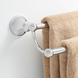 Seattle Double Towel Bar - Increase your bath's style and storage with the Seattle Collection Double Towel Bar. This handsome and handy towel holder is made of solid brass.