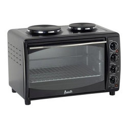 Avanti MKB42B Mini Kitchen Multi-Function Oven - Black - Get cooking with the Avanti MKB42B Mini Kitchen Multi-Function Oven - Black. This compact unit provides all the cooking functions of a full-size range, including a dual burner cook-top, convection bake, convection roast, and rotisserie. For your convenience, it features full-range temperature control and a 60-minute cook timer. With the baking pan, rotisserie rod, and forks included, you'll have everything you need to start cooking your own tasty creations.About AvantiAvanti has been a leader in the Consumer Appliance Industry for over 30 years. We specialize in compact to full-sized refrigerators; upright and chest freezers; wine coolers; water dispensers, and more. Avanti's reputation has been built by providing quality products at a great value. We are well known for our compact refrigerators for the home, office and dormitory. Avanti compact refrigerators have become popular with hotel chains nationwide as in-room refrigerators and refreshment centers.