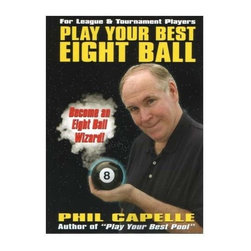 """Sterling Gaming - Play Your Best Eight Ball - Pool Players Manu - Most recent book by Phil Capelle, pool's most prolific instructional author. """"Play Your Best Eight Ball"""" focuses on two primary goals. Goals as teach the reader how to think like an eight ball player and how to win consistently. The book's eighteen chapters are divided into four parts to help you identify areas of interest. Weight: 2 lbs.Part One-Getting Started, offers a course on the basics that includes tips on learning eight ball, different table sizes, and the rules. Part Two-Offense, is a 210 page course on all aspects of offense. Part Three-Strategy and Defense, is a 164 page course on strategic eight ball that emphasizes how to compete against players of all levels. Part Four-Improving Your Game, shows you how to practice"""