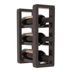 Wine Racks America® - 3 Bottle Counter Top/Pantry Wine Rack in Pine, Black Stain + Satin Finish - These counter top wine racks are ideal for any pantry or kitchen setting.  These wine racks are also great for maximizing odd-sized/unused storage space.  They are available in furniture grade Ponderosa Pine, or Premium Redwood along with optional 6 stains and satin finish.  With 1-10 columns available, these racks will accommodate most any space!!