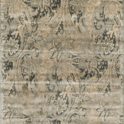 Loloi Rugs - Loloi Rugs Nyla Collection, Cream/Slate - The power-loomed Nyla Collection from Egypt offers a range of subtle, sophisticated looks that enhance an interior space at a value-driven price. Made of 100% viscose, Nyla features soft color combinations with touches of mocha, plum, and mist throughout the selection.