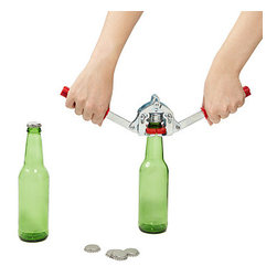 Beer Bottle Capper with Caps - Seal a metal cap onto your bottles for fermentation or transportation with this tool.