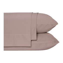 Nine Space - Bamboo Viscose Sheet Set, Queen, Taupe - These luxurious linens provide a neutral foundation for you to layer on colors and textures. Made from bamboo viscose and organic cotton, the ecofriendly texture feels more akin to silk or cashmere. 300 thread count.