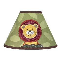 Sweet Jojo Designs - Jungle Time Lamp Shade - Jungle Time Lamp Shades will help complete the look of your Sweet Jojo Designs room. This adorable lamp shade will fit any standard lamp base (base not included). Dimensions: 4in. x 7in. x 10in.