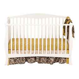 Stork Craft - Stork Craft Savona Fixed Side Convertible Crib in White - Stork Craft - Cribs - 04550411 - The Savona collection by Stork Craft adds class to your nursery!  Designed with safety in mind it has a well built construction made of attractive solid wood and wood products offered in a variety of non toxic durable finishes. Set-up this extravagant nursery piece effortlessly with it's easy to follow directions  Complete your nursery look by adding an assortment of matching pieces by Stork Craft.