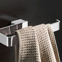 Gedy - Square Polished Chrome Towel Ring - Modern square brass towel ring or towel holder in a polished chrome finish. Towel ring made of brass. Available in a chrome finish. From the Gedy Lounge collection.