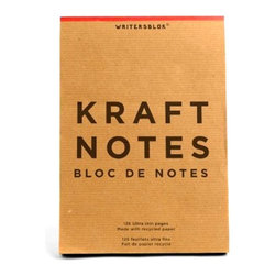 Take Notes Large Writing Pad - Scribble down your thoughts, sketch a drawing, make a list or keep a journal with the Take Notes Large Writing Pad. Made with old-fashioned onionskin paper recall the style of years past, this notepad feels vintage in a good way.