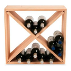 Wine Enthusiast - Wine Enthusiast 24-Bottle Wooden Wine Rack Cube - This handsome wine rack cube maximizes space, provides ample storage and even adds a sophisticated touch to your home decor. Made of Scandinavian pine wood, this square wine rack is hand-cut and hand-sanded for an even grain and color finish.