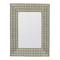"Cooper Classics - Beauclaire Woven Fabric Rectangular Mirror - Compliment your home's d�cor with the lovely Beauclaire Mirror.  This beautiful wall mirror features a cream woven fabric finish that will add character to any room.  Frame Dimensions: 23.5""W X 31.5""H; Mirror Dimensions: 14""W X 22""H; Finish: Cream Woven Fabric; Material: Fabric; Beveled: No; Shape: Rectangular; Weight: 11 lbs; Included: Brackets, Ready to Hang Vertically or Horizontally"