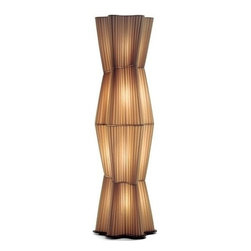 """Anton Angeli - Anton Angeli Formosa F4 floor lamp - The Formosa F4 floor lamp from Anton Angeli has been designed by Aldo Cibic in 2005. This floor mounted luminaire is perfect for incandescent lighting. A collection of lamps with a asymmetrical texture shade, which can be used singularly or together with another element for floor, wall, table, wall and suspension lamps. Materials: texture white or red, metal. Formosa's construction from quality textile fabric (white or red) and metal, gives this masterful fixture a luxurious and intricate design.  Product description: The Formosa F4 floor lamp from Anton Angeli has been designed by Aldo Cibic in 2005. This floor mounted luminaire is perfect for incandescent lighting. A collection of lamps with a asymmetrical texture shade, which can be used singularly or together with another element for floor, wall, table, wall and suspension lamps. Materials: texture white or red, metal. Formosa's construction from quality textile fabric (white or red) and metal, gives this masterful fixture a luxurious and intricate design. Details:                                     Manufacturer:                                     Anton Angeli                                                     Designer:                                     Aldo Cibic, 2005                                                     Made in:                                     Italy                                                     Dimensions:                                     Small: Overall Height: 63"""" (160 cm) Base Diameter: 18.9"""" (48 cm)                          Large: Overall Height: 78.7"""" (200 cm) Base Diameter: 18.9"""" (48 cm)                                                                                                       Light bulb:                                     Small and Large: 10 x 40W Incandescent                                                     Material:                                     Premium Metal, Textile Fabric"""