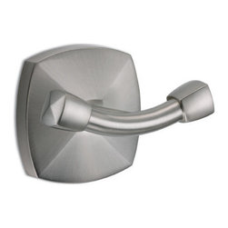 Jewel Robe Hook - Hang your robe, towels or other garments on this contemporary Jewel Robe Hook. It features a rounded square design and made of solid brass.