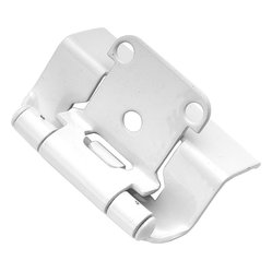 Hickory Hardware - White Powder Coat Semi-Concealed Full Wrap Hinge (2-Pack) - Functionalism is the principal that design is based on the purpose of that piece.  Hinges, hooks, catches, drawer slides and screws.  All designed for a specific purpose and necessary in every home.