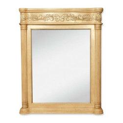 Lyn Design - Lyn Design Antique Ornate 33 11/16 X 42 Antique White Mirror - Lyn Design Antique Ornate 33 11/16 X 42 Antique White Mirror