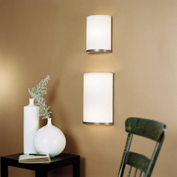 Lights Up! - Meridian Small Wall Sconce, Natural Linen Shade - #NAME?