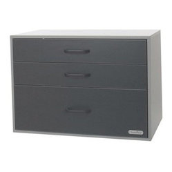 Organized Living freedomRail GO-Box 3-Drawer Unit