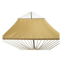 Phat Tommy - Sunbrella Hammock in Cornsilk - The Phat Tommy Sunbrella Dupione Hammock is part of Outdoor Oasis Line and is our most durable and beautiful outdoor hammock. For your outdoor room or by the pool, Phat Tommy Sunbrella products give you the sophisticated style you want with the protection you need. Sunbrella's tough, long-lasting fabrics handle the worst Mother Nature can give, year after year. From the baking sun to endless rain, Phat Tommy Outdoor Oasis products look great in any season.