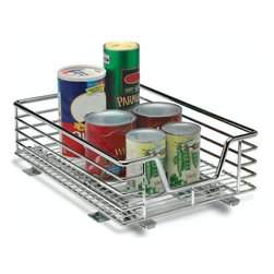 "Home Decorators Collection - 11.5"" Sliding Organizer - Whether for your pantry, to house your dinnerware or any other space in your kitchen, you will love having this handy organizer as a part of your home. With a sturdy construction, it is built to withstand years of use. Order yours today. Heavy-duty chrome construction will last for years to come. Easy installation. Smooth, full extension glides provide easy access to cabinet contents. Can be mounted on commercial steel shelving with bracket adapters."