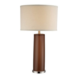 Lite Source - Lite Source LSF-22234COFFEE Cigar 1 Light Table Lamp - Features: