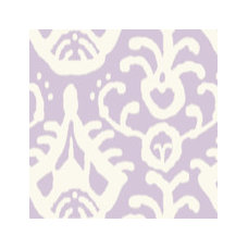 Lavender ikat fabric by domesticate for sale on Spoonflower - custom fabric, wal