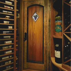 Rustic Wood Door - Rustic Wood Interior Door Custom Made for this Wine Cellar. We carry all styles and material for Windows and Doors. Available across the US and Canada.