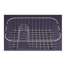 Houzer - Steel Wire Rinsing Basket for Double Sinks - Rinsing basket. Fits ES-2408, MS-2309. T304 stainless steel with protective plastic feet. Rinsing Basket with plate racks. 19.25 in. x 14.25 in. x 5.5 in.H Rinsing Basket. T304 Premium Stainless Steel. 1 Year Warranty. 19.25 in. W x 14.25 in. H x 6 in. D