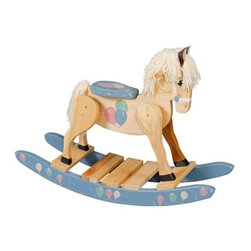 Fifthroom - Wooden Balloon Painted Rocking Horse -