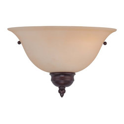 Savoy House - 1 Light Sconce - Half Moon English Bronze Sconce with Cream Frost Glass
