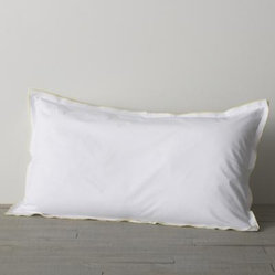 Belo Yellow King Double Flange Pillow Sham