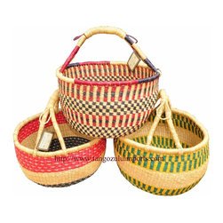 Large Market Bolga Basket - Not only are these fair trade baskets perfect for toting goodies at the market, but they support artisans in Ghana too.
