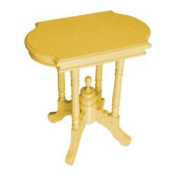 EuroLux Home - New Side Table Yellow Painted Hardwood - Product Details