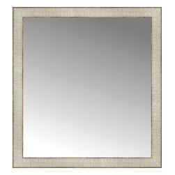 """Posters 2 Prints, LLC - 26"""" x 28"""" Libretto Antique Silver Custom Framed Mirror - 26"""" x 28"""" Custom Framed Mirror made by Posters 2 Prints. Standard glass with unrivaled selection of crafted mirror frames.  Protected with category II safety backing to keep glass fragments together should the mirror be accidentally broken.  Safe arrival guaranteed.  Made in the United States of America"""