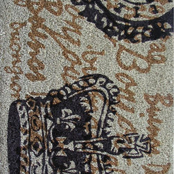None - Cocoa Matting 'Large Crown' Grey Door Mat (18 x 30) - The large crown print of this grey door mat will be the perfect way to customize the look and feel of your entrance way. Rugged and durable, this mat will provide a uniquely stylish way for guests to keep your home clean and free of debris.