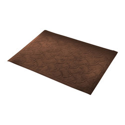 Bungalow Flooring - 23 in. L x 35 in. W Cashew Soft Impressions Fish Hook Floor Mat - Made to order. Machine washable. Slip resistant. Molded design in microfiber surface. 23 in. L x 35 in. W x 0.5 in. H