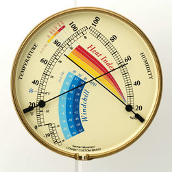 ConantCustomBrass - Heat Index & Wind Chill Gauge - Temperature & Humidity meter