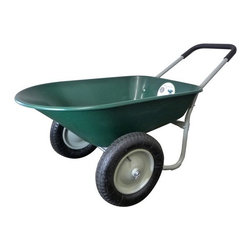 Marathon Industries - 5 Cubic Feet Poly Wheelbarrow - Features: -Wheelbarrow. -Durable poly wheelbarrow. -Balanced for easy lifting and moving. -Poly tray. -Dual wheels. -5 cubic feet.