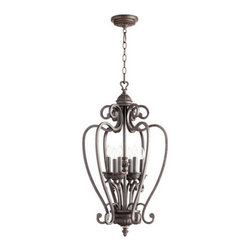 "Quorum International - Quorum International 6726-6 Summerset 6 Light 17.25"" Foyer Pendant - Quorum International 6726-6 Summerset 6 Light 17.25"" Foyer PendantGraceful, delicate, scrolling metal arms envelop six candle-like bulbs on this foyer pendant from the Summerset Collection.Quorum International 6726-6 Features:"