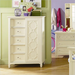 Magnussen - Magnussen Cameron Wood 5 Door Chest in Off White - Magnussen - Kids Dressers - Y181613 - About This Product:
