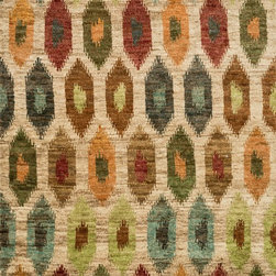"Loloi Rugs - Loloi Rugs Xavier Collection - Multi, 7'-9"" x 9'-9"" - The sumptuous Xavier Collection is distinguished by its plush feel and bright, bold color palette. Hand knotted with 100% jute from India, Xavier's large scale Ikat design offers sophistication that works as an incredible centerpiece for a variety of room settings."