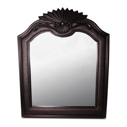 Bronzed Espresso Wicker and Wood Mirror - 49-5 h x 40 w