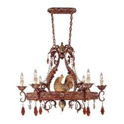 Savoy House - Clyde 6 Light Single Tier Candle Style Chandelier - Features: