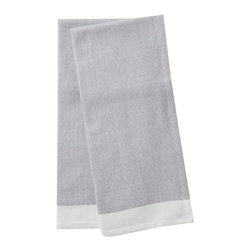 "Coyuchi - Diamond Chambray Kitchen Towel Set 16""x24"" Deep Pewter - Shouldn't your kitchen towels be as functional and attractive as everything else in your kitchen? Sized to dry your largest platters and pans, ours are loomed from thirsty organic cotton, in great colors and a subtle diamond weave. That means they're absorbent, attractive and earth-friendly, too. Choose a matched set of two, or opt for a set of seven, including one in each color."