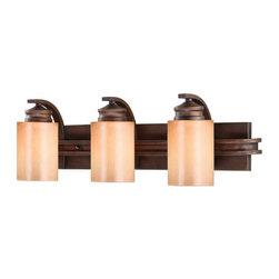 Golden Lighting - Golden Lighting 1051-BA3 Craftsman / Mission Three Light Wall Sconce Hi - Craftsman / Mission Three Light Wall Sconce from the Hidalgo CollectionFeatures: