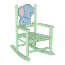 Fantasy Fields - Fantasy Fields Safari Rocking Chair - Elephant Multicolor - W-8343A - Shop for Childrens Rocking Chairs from Hayneedle.com! Give your child a comforting spot to read or rest with the Fantasy Fields Safari Rocking Chair - Elephant. Expertly handcrafted of solid hardwood with a neutral sunny yellow finish accented in cool greens this classic children s rocker features a friendly elephant to watch over your little one.Sturdily constructed and painted with non-toxic materials this rocking chair is ideal for children ages 18 months to 11 years. This piece requires little assembly and has been thoroughly tested for safety and stability.About Teamson DesignBased in Edgewood N.Y. Teamson Design Corporation is a wholesale gift and furniture company that specializes in handmade and hand-painted kid-themed furniture collections and occasional home accents. In business since 1997 Teamson continues to inspire homes with creative and colorful furniture.