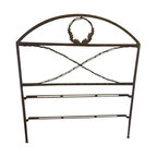 Pre-owned Wrought Iron Headboard with Acorns and Oak Leaves - Beautiful custom-made headboard with acorn and oak leaf detailing. Fits a full or queen size bed.