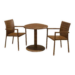 Panama Jack St Barths 3 Piece Bistro Arm Chair Set