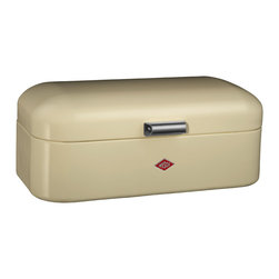 Wesco - Wesco Grandy Bread/Storage Box, Almond - Show your loaves some love. This powder-coated steel box boasts ventilation perforations to keep bread, cake and other goodies fresh and tasty. It's designed for baked goods, but its retro-classic style is so cool that you might choose to use it for storage anywhere.