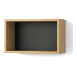 Inova Team -Contemporary Wooden Wall Shelf - 12x20 - Reading is fundamental, so is good design. This wall shelf is a no-fuss foundation that supports both the quest for intellectual expansion and the need to shelve the finds stylishly.