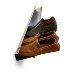 """J-Me - Shoe Rack Horizontal 700mm - If the shoe fits, use this rack! Made of stainless steel, this ingeniously designed shoe rack holds four of your favorite pairs, allowing them to """"float"""" for easy access."""