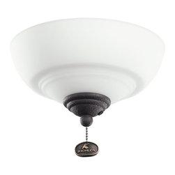 Kichler Lighting - Kichler Lighting 380123DBK Decor Bowl 30-36 Ceiling Fan Light Kit - Kichler Lighting 380123DBK Decor Bowl 30-36 Ceiling Fan Light Kit