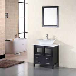 "Design Elements LLC - Bathroom Sink Vanity, 36"" Single Vessel Sink, Stanton - Faucets not included:"